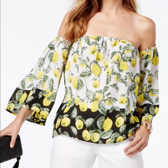 INC International Concepts Tops - INC International Concepts Lemon Off Shoulder Top